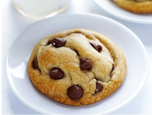 Coconut oil chocolate cookie