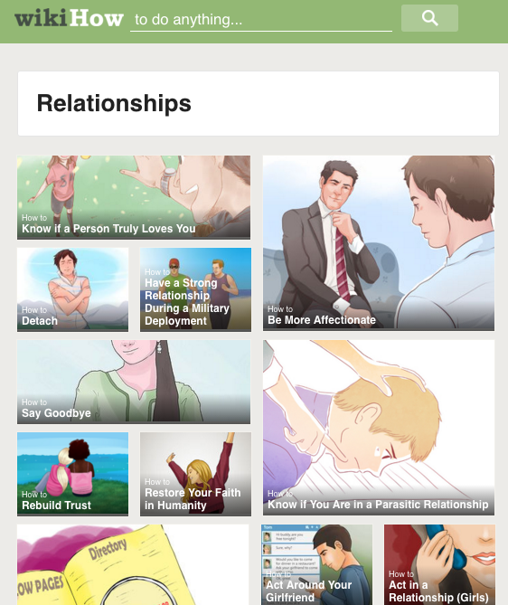 Wikihow relationships